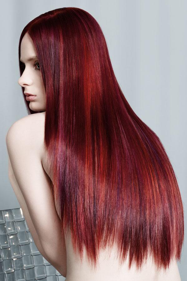 Mit strähnen haare naturrote Braune Haare