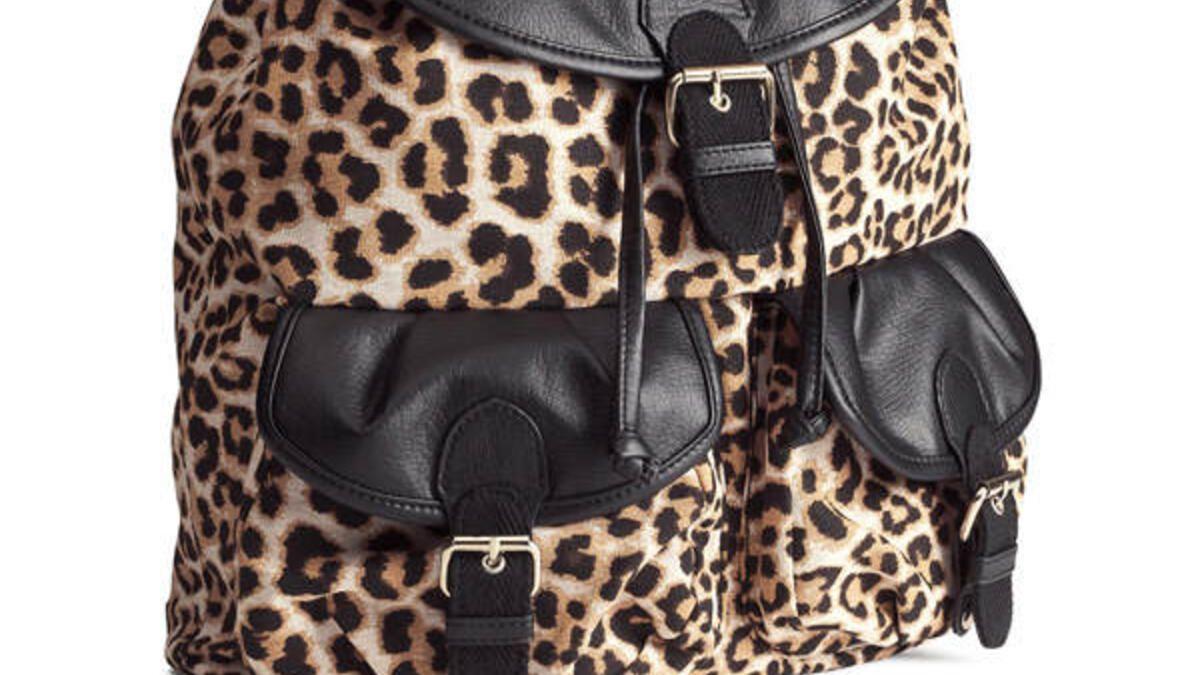 rucksack im leo look von h m. Black Bedroom Furniture Sets. Home Design Ideas