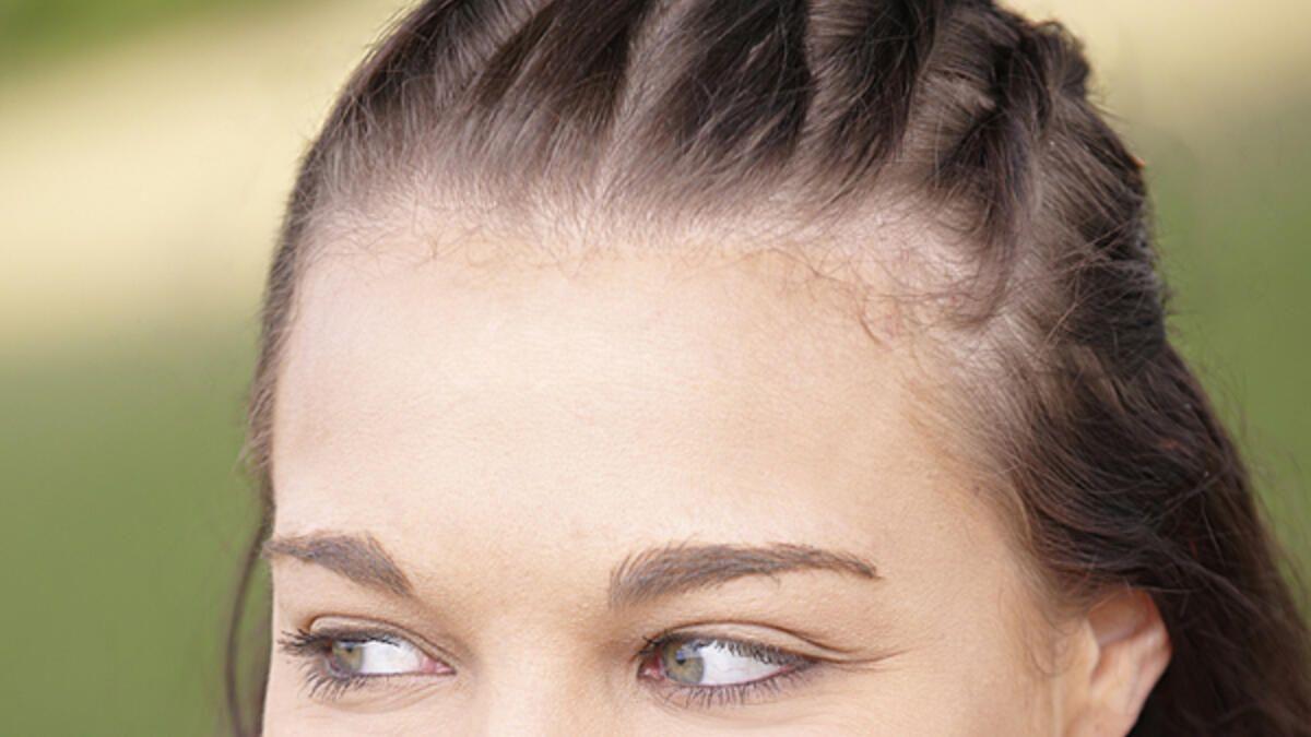 Schnelle Frisur für lange Haare