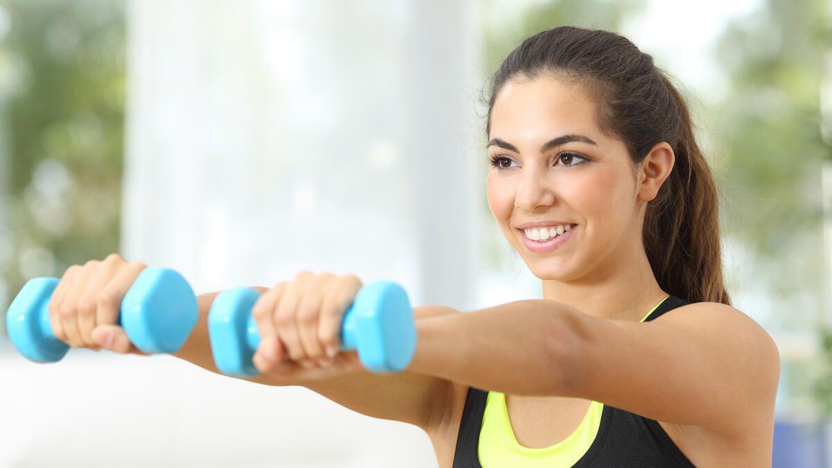 Fitnessprogramm: Brust und Oberarme straffen