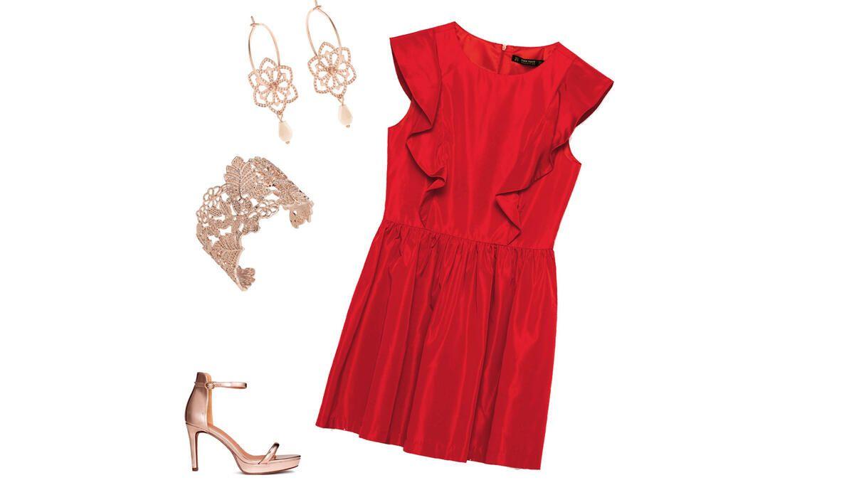 Dream Team Rotes Kleid Zu Rosegold
