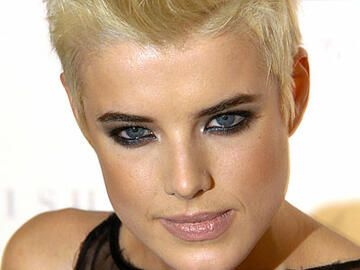 Agyness Deyn mit Smokey Eyes