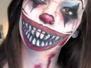 Halloween Schminken Horror Clown